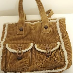 American Eagle Outfitters Brown Corduroy Bag